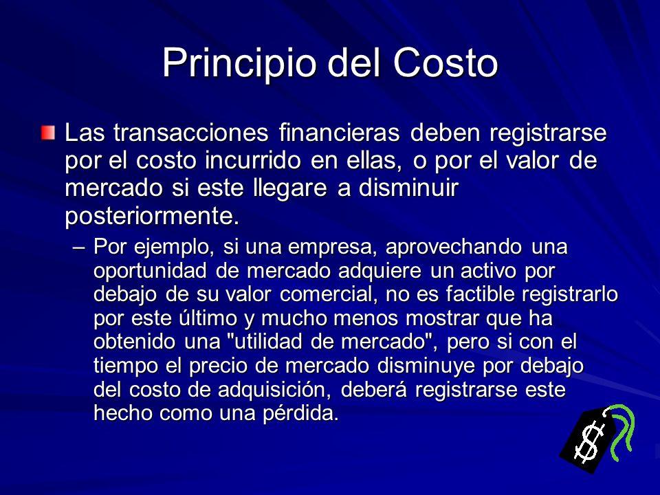 Principio del Costo