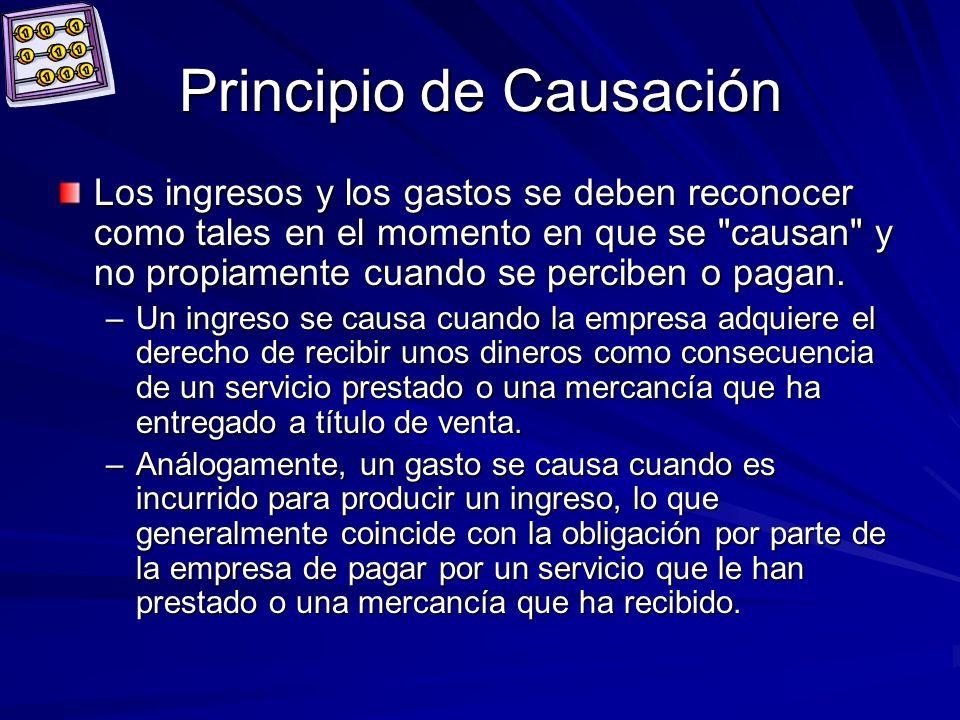 Principio de Causación