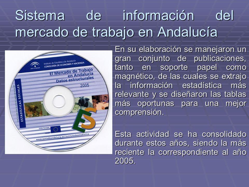 Sistema de información del mercado de trabajo en Andalucía