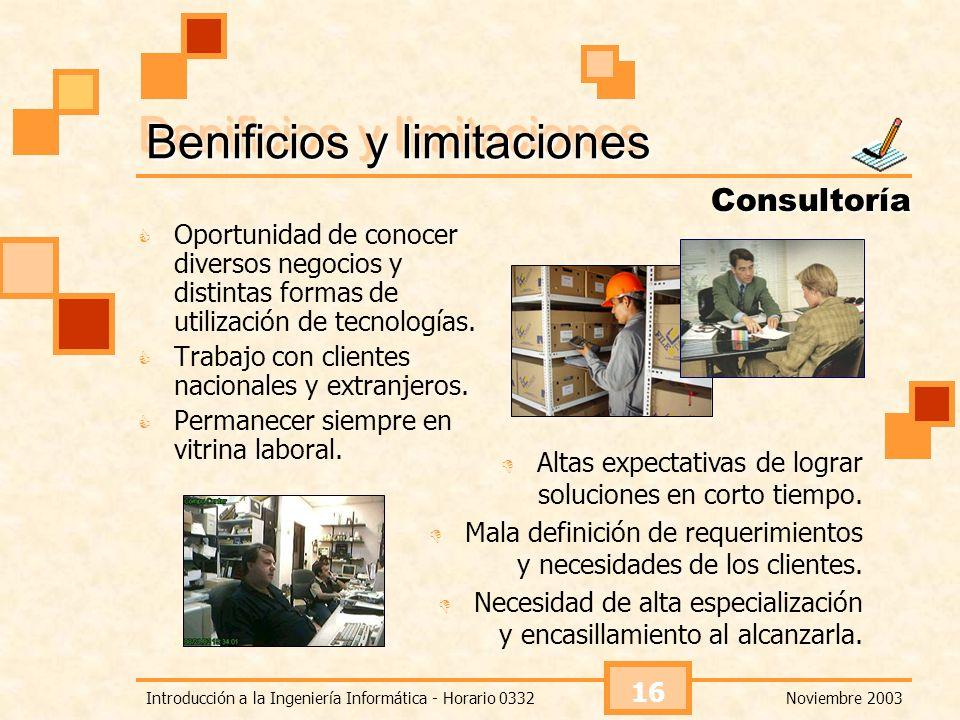 Benificios y limitaciones