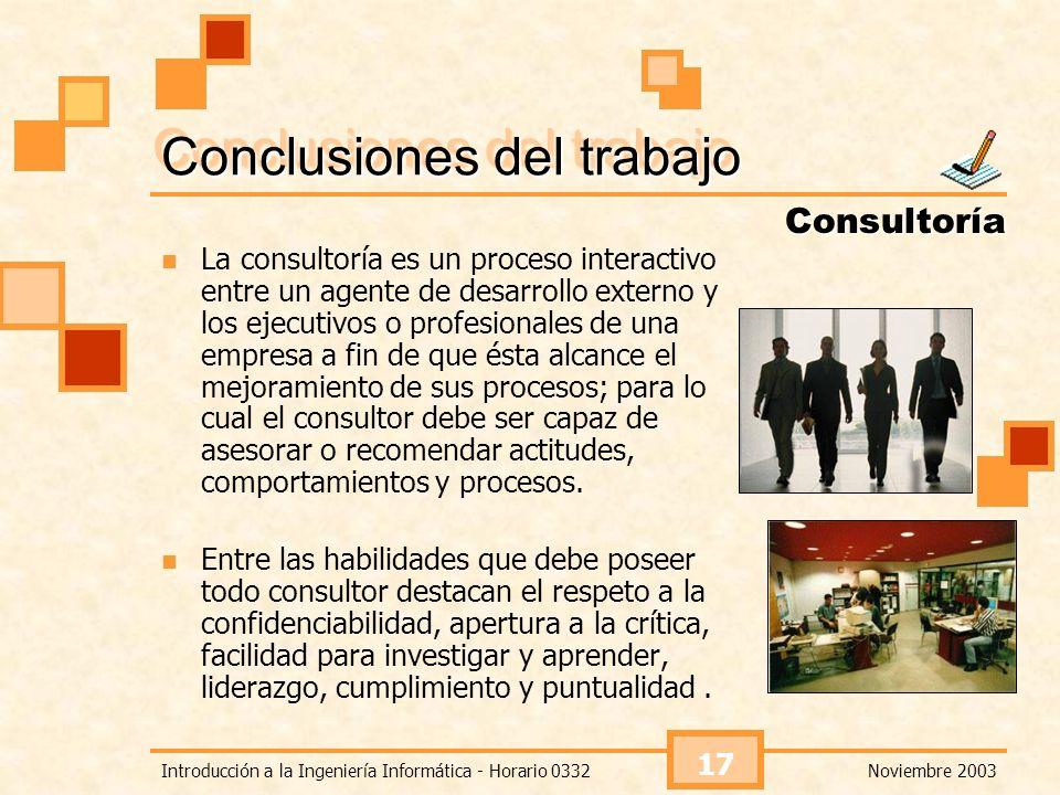 Conclusiones del trabajo