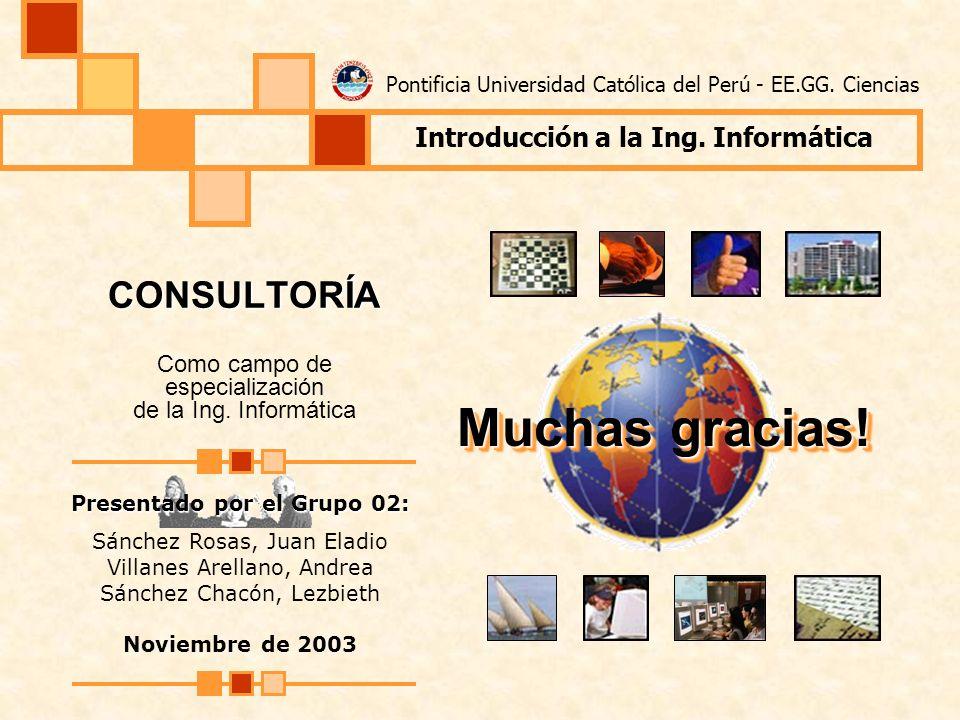 CONSULTORÍA Como campo de especialización de la Ing. Informática