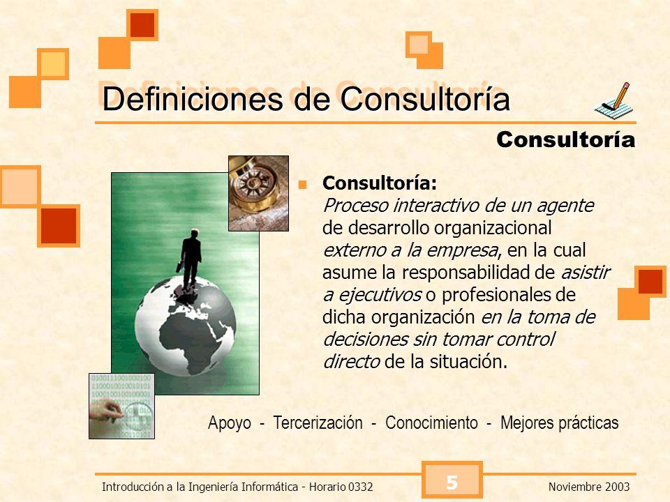 Definiciones de Consultoría