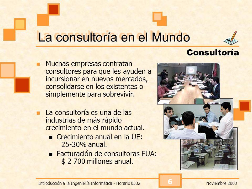 La consultoría en el Mundo