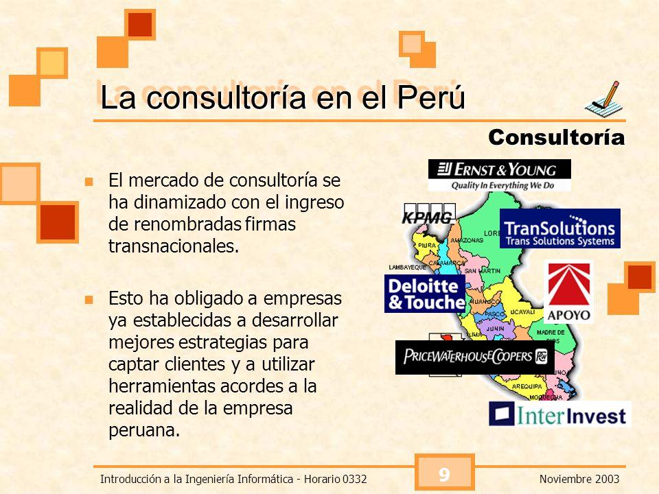 La consultoría en el Perú