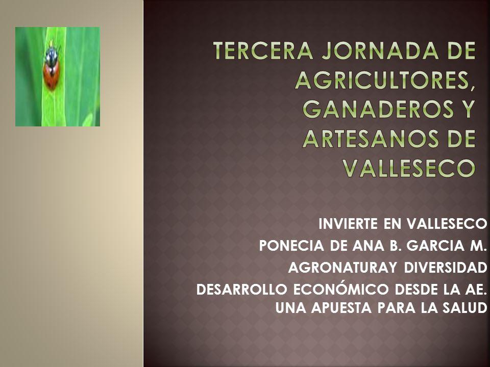 Tercera jornada de agricultores, ganaderos y artesanos de valleseco