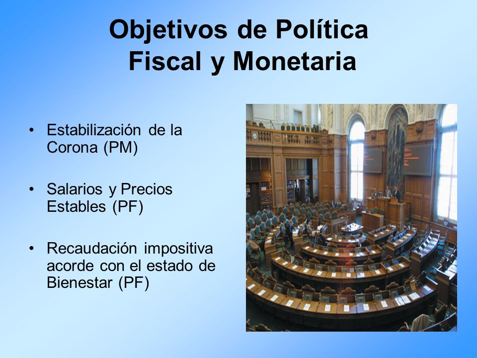 Objetivos de Política Fiscal y Monetaria