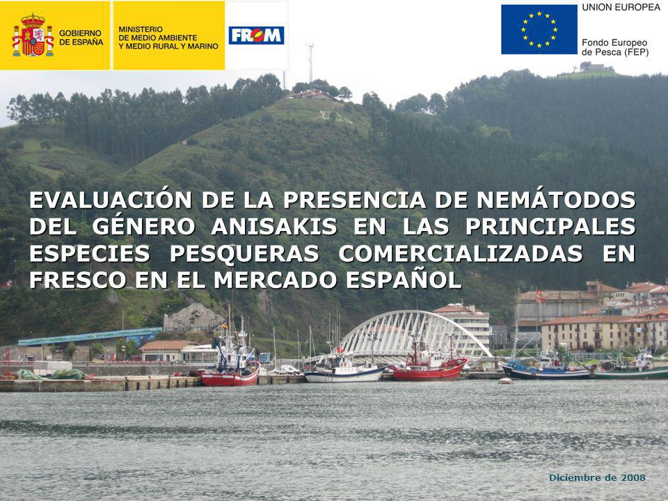 EVALUACIÓN DE LA PRESENCIA DE NEMÁTODOS DEL GÉNERO ANISAKIS EN LAS PRINCIPALES ESPECIES PESQUERAS COMERCIALIZADAS EN FRESCO EN EL MERCADO ESPAÑOL