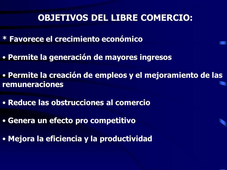 OBJETIVOS DEL LIBRE COMERCIO: