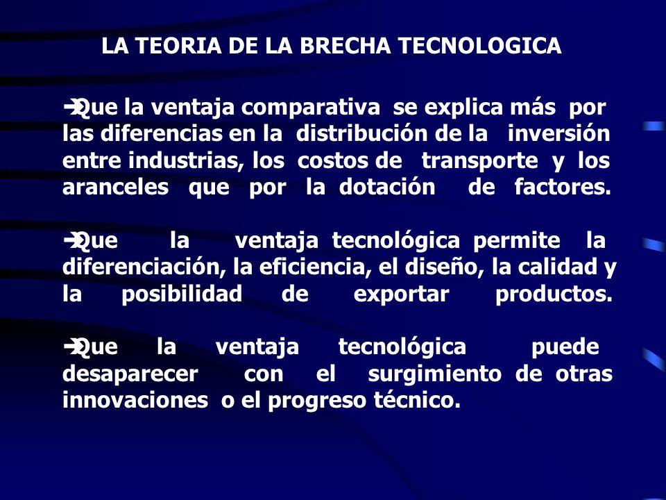 LA TEORIA DE LA BRECHA TECNOLOGICA