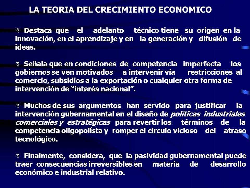 LA TEORIA DEL CRECIMIENTO ECONOMICO