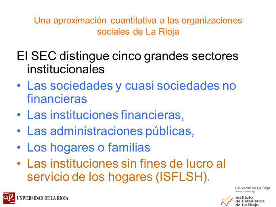 El SEC distingue cinco grandes sectores institucionales