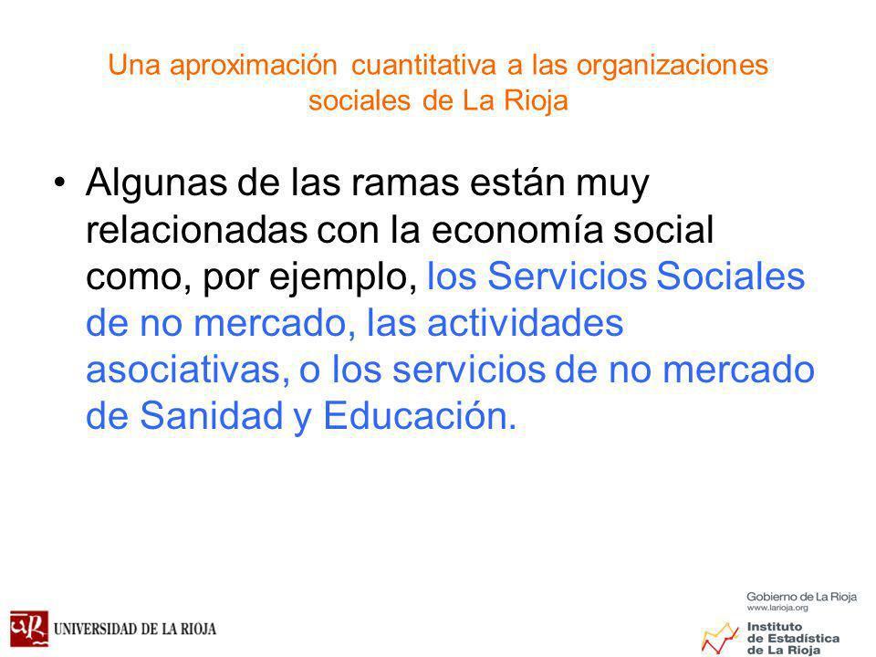 Una aproximación cuantitativa a las organizaciones sociales de La Rioja