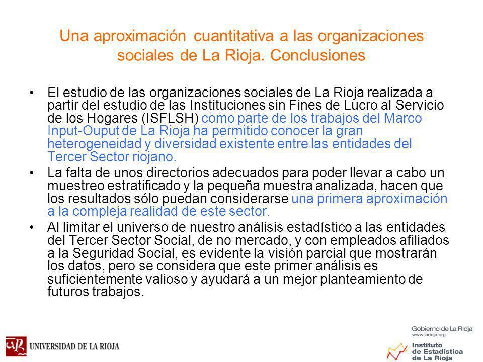 Una aproximación cuantitativa a las organizaciones sociales de La Rioja. Conclusiones