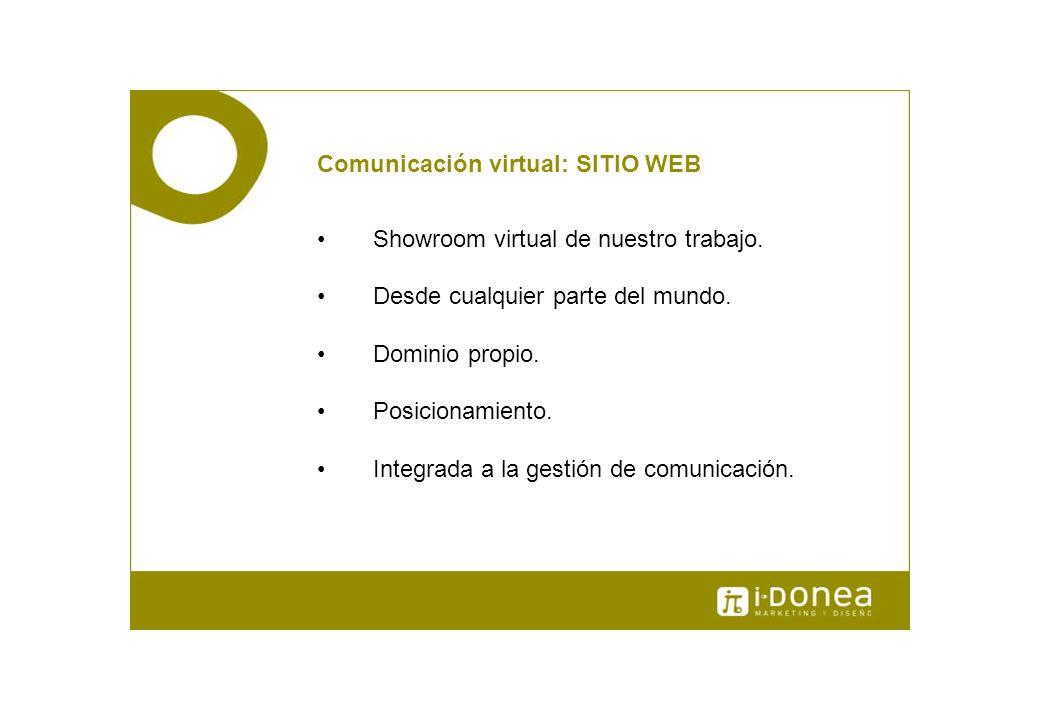Comunicación virtual: SITIO WEB