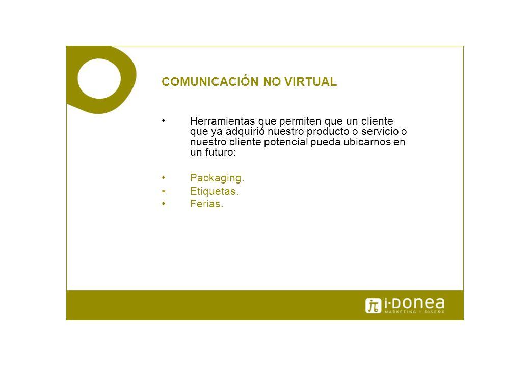 COMUNICACIÓN NO VIRTUAL