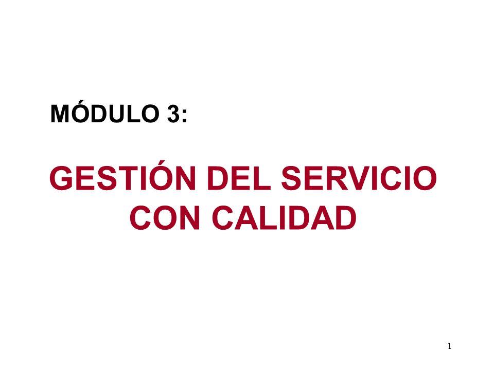 GESTIÓN DEL SERVICIO CON CALIDAD