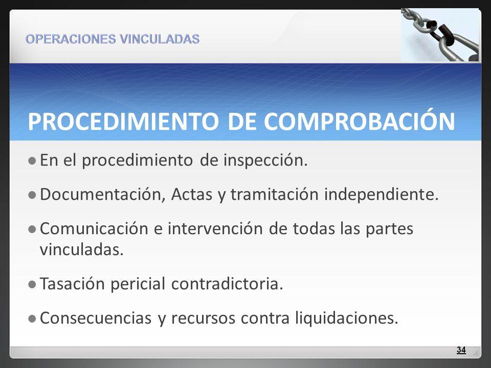 PROCEDIMIENTO DE COMPROBACIÓN