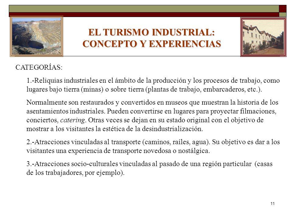 EL TURISMO INDUSTRIAL: CONCEPTO Y EXPERIENCIAS
