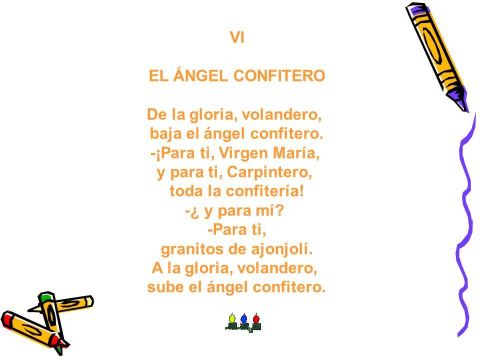 baja el ángel confitero. sube el ángel confitero.