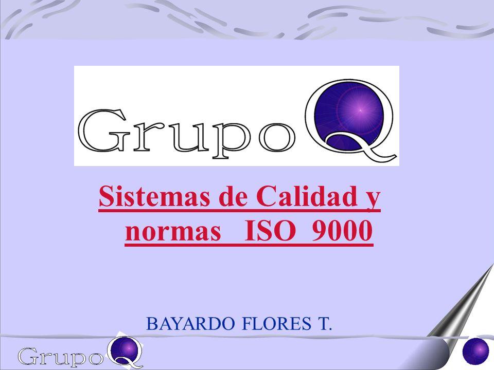 Sistemas de Calidad y normas ISO 9000