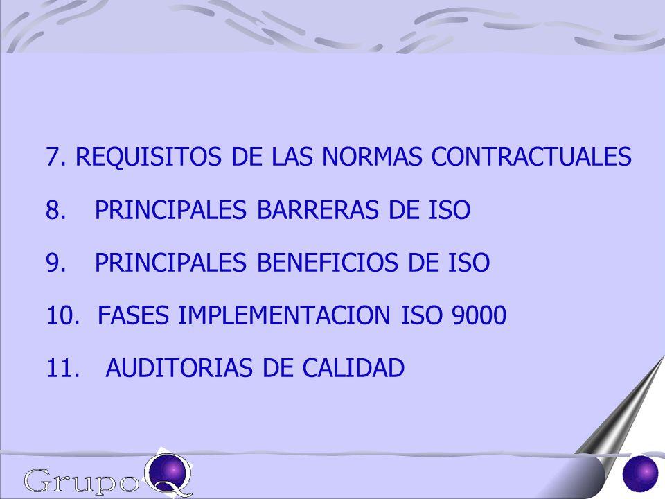 7. REQUISITOS DE LAS NORMAS CONTRACTUALES