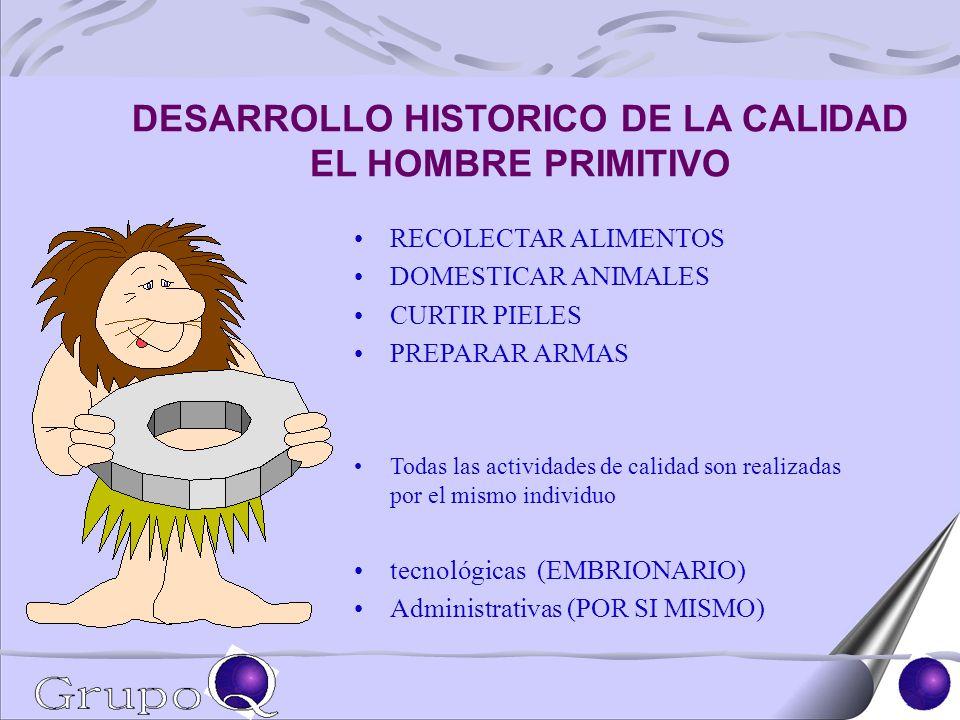 DESARROLLO HISTORICO DE LA CALIDAD EL HOMBRE PRIMITIVO