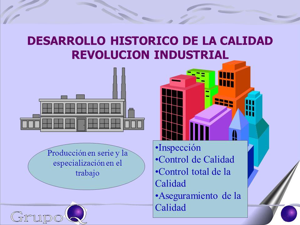 DESARROLLO HISTORICO DE LA CALIDAD REVOLUCION INDUSTRIAL