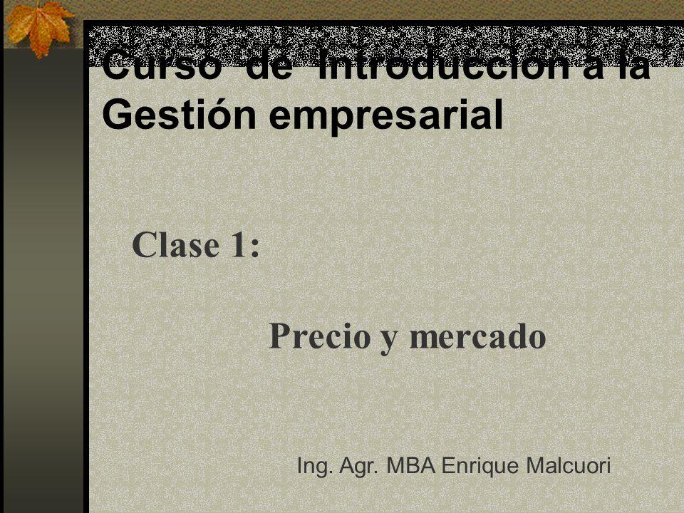 Curso de Introducción a la Gestión empresarial