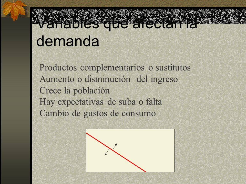 Variables que afectan la demanda