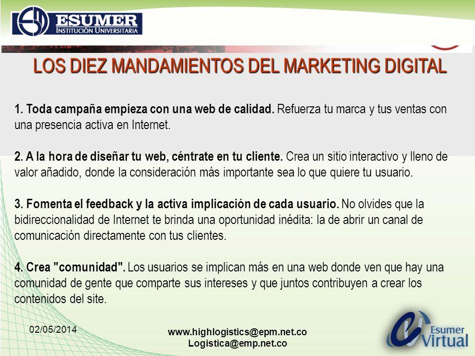 LOS DIEZ MANDAMIENTOS DEL MARKETING DIGITAL