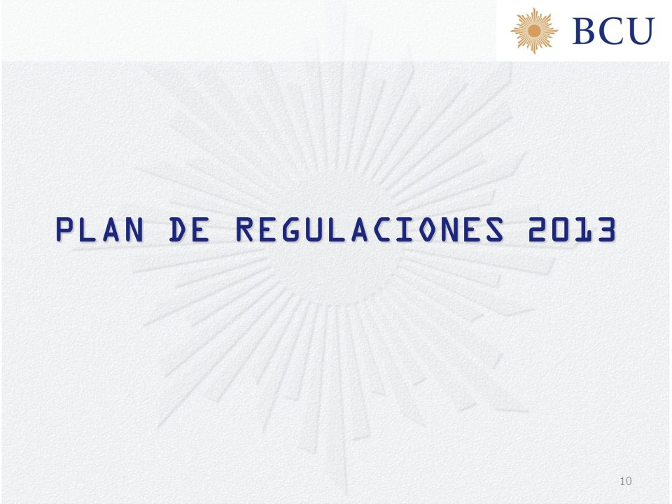 PLAN DE REGULACIONES 2013