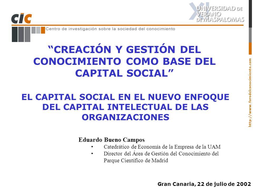 CREACIÓN Y GESTIÓN DEL CONOCIMIENTO COMO BASE DEL CAPITAL SOCIAL