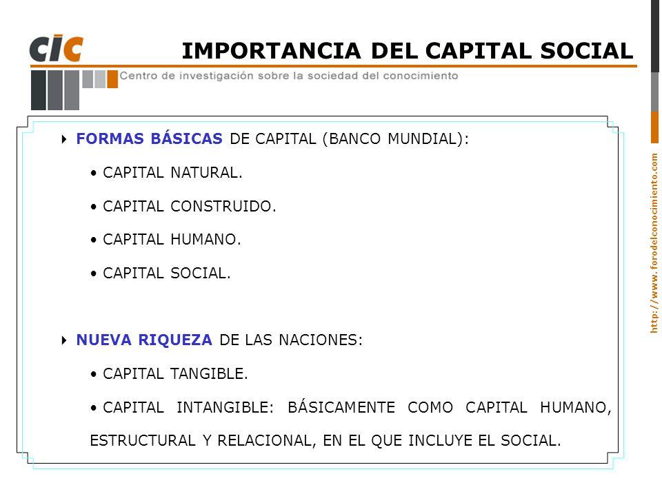 IMPORTANCIA DEL CAPITAL SOCIAL