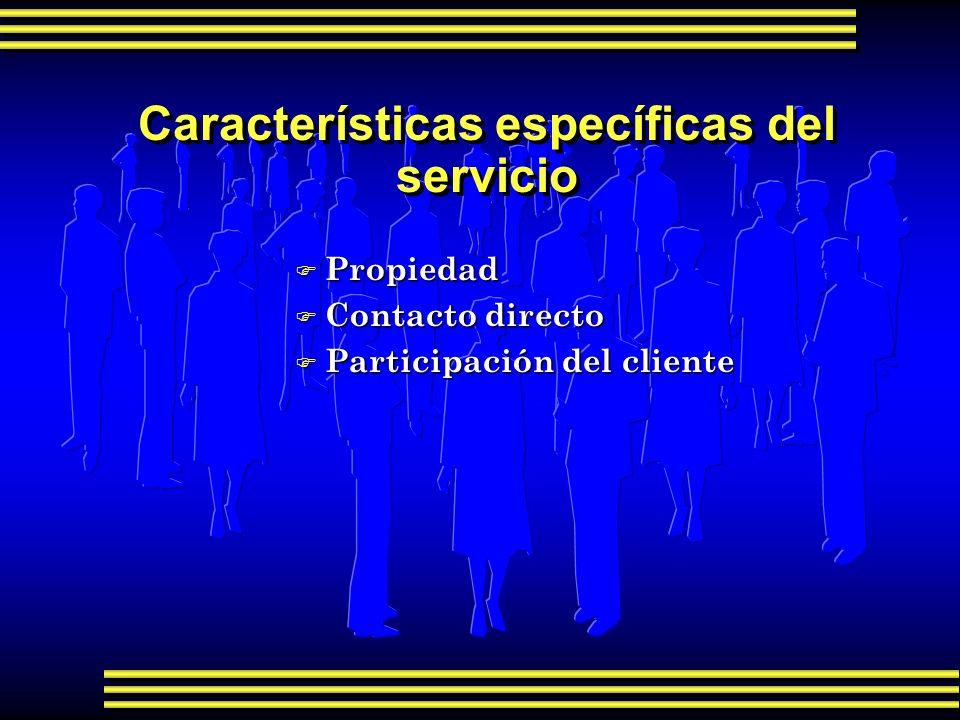 Características específicas del servicio