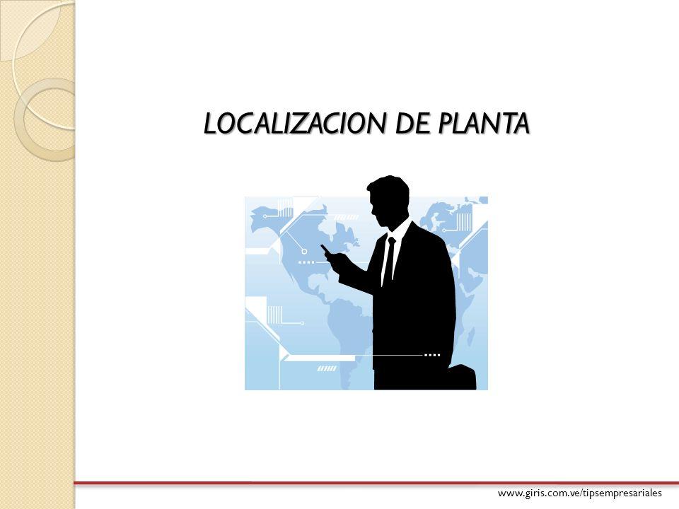 LOCALIZACION DE PLANTA