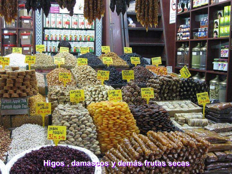Higos , damascos y demás frutas secas