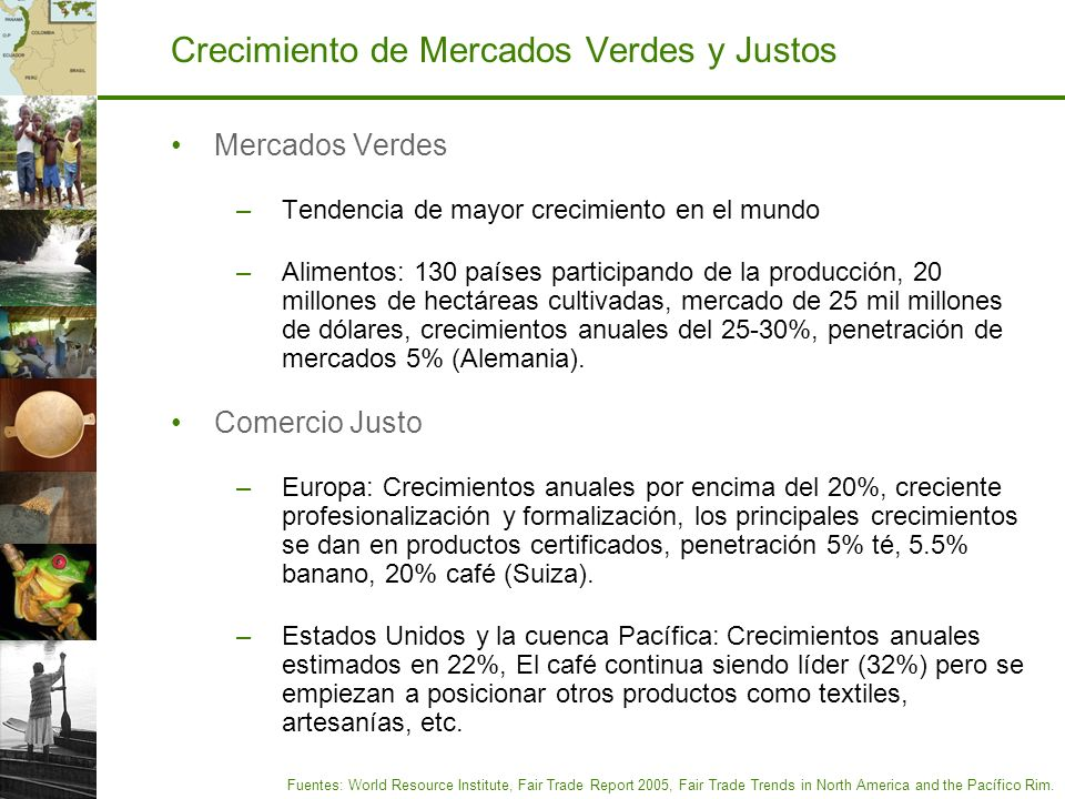 Crecimiento de Mercados Verdes y Justos