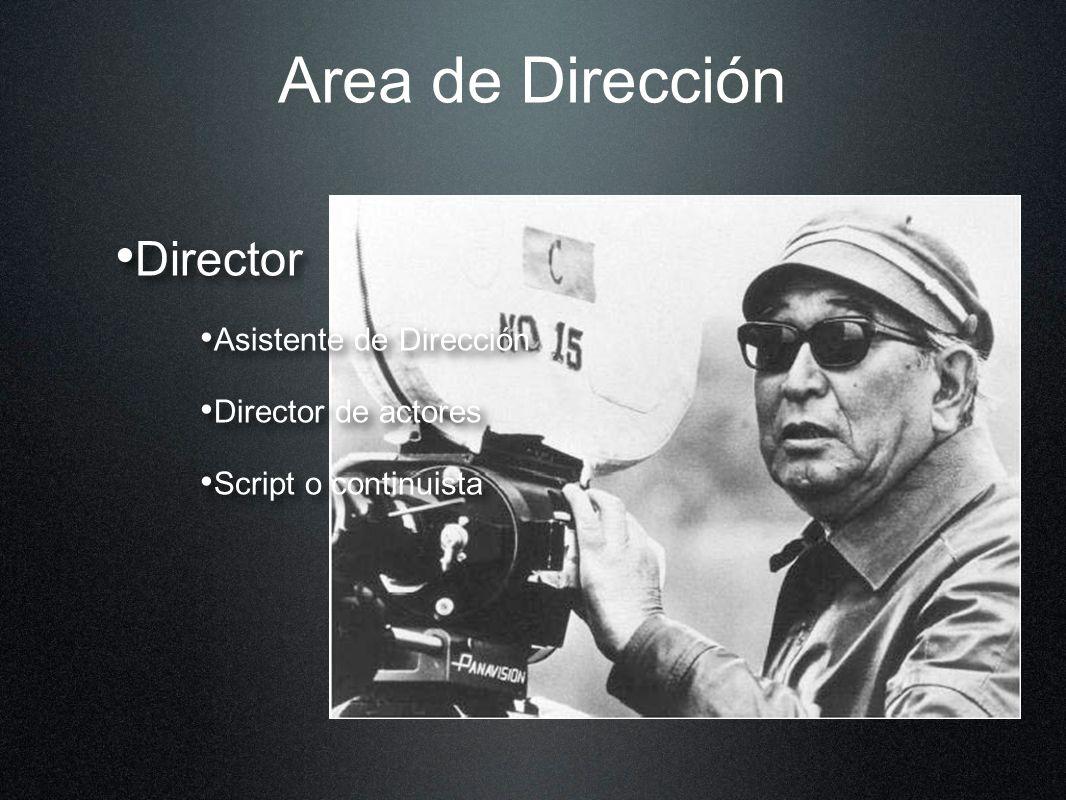 Area de Dirección Director Asistente de Dirección Director de actores