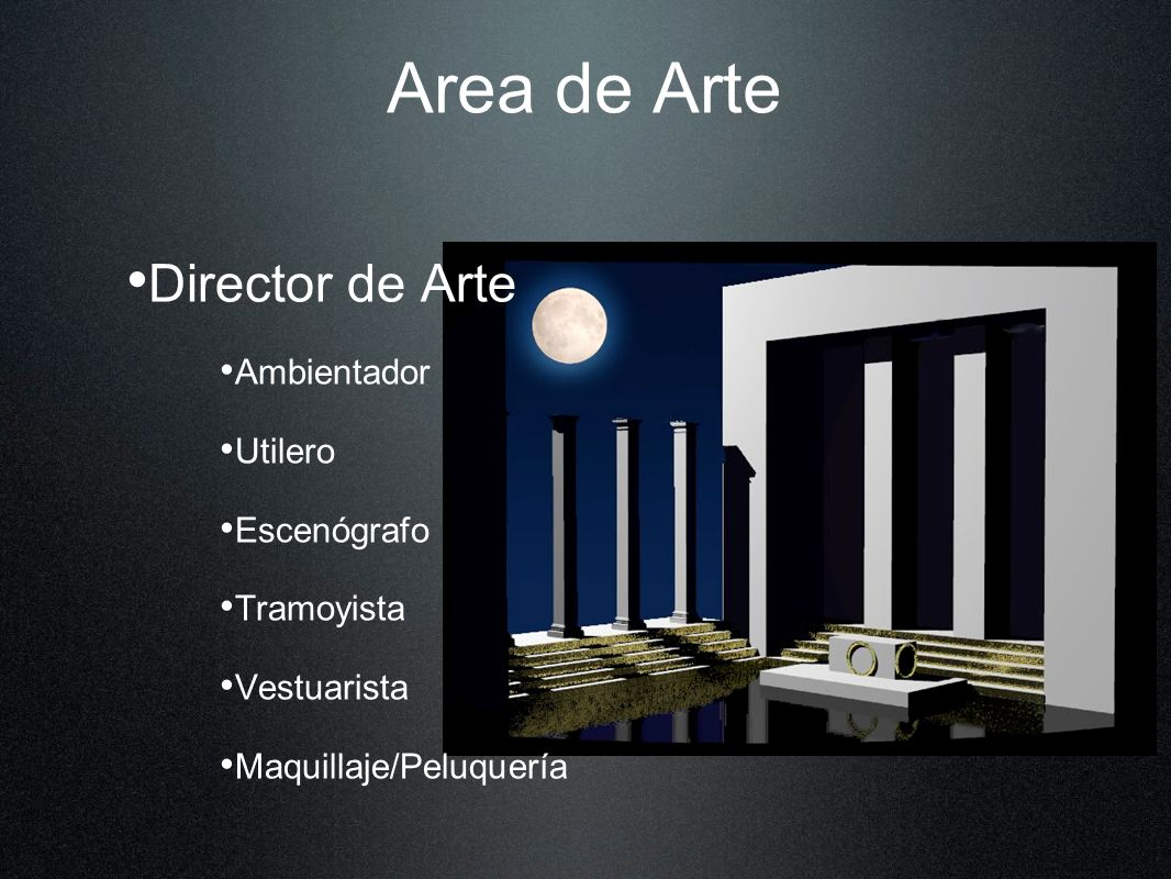 Area de Arte Director de Arte Ambientador Utilero Escenógrafo