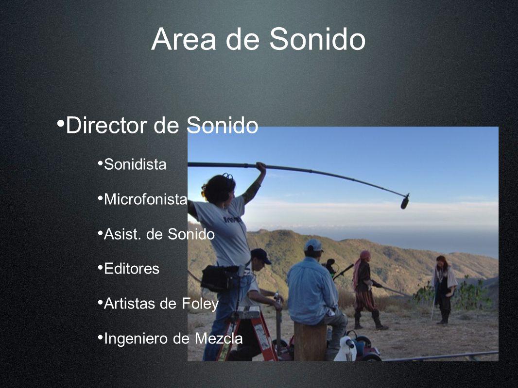 Area de Sonido Director de Sonido Sonidista Microfonista