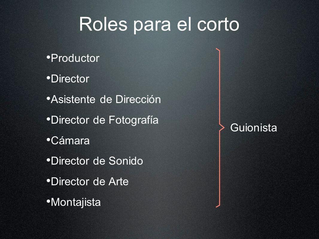 Roles para el corto Productor Director Asistente de Dirección