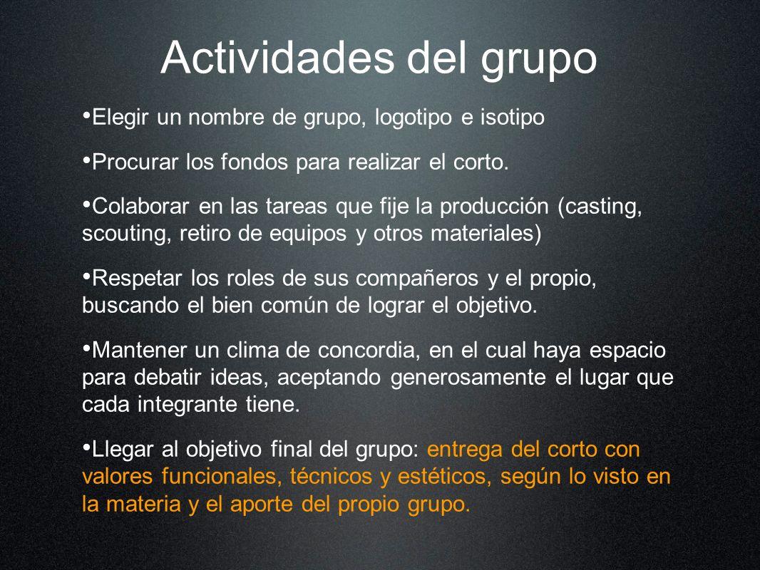Actividades del grupo Elegir un nombre de grupo, logotipo e isotipo