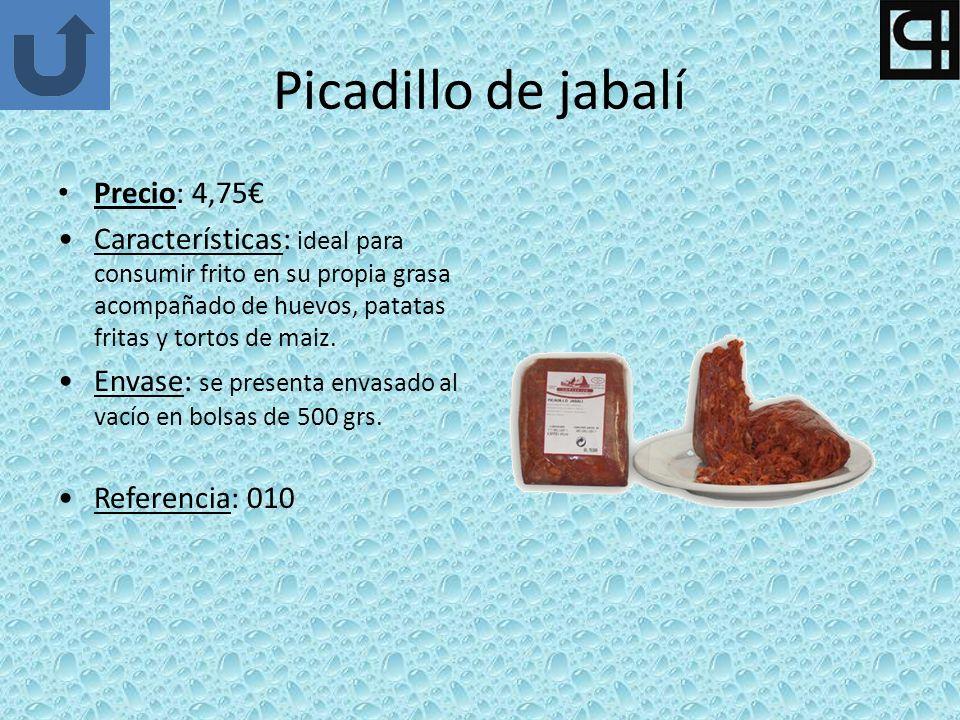 Picadillo de jabalí Precio: 4,75€