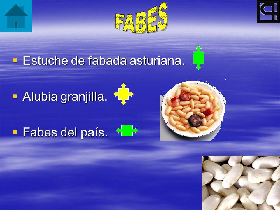 FABES Estuche de fabada asturiana. Alubia granjilla. Fabes del país.
