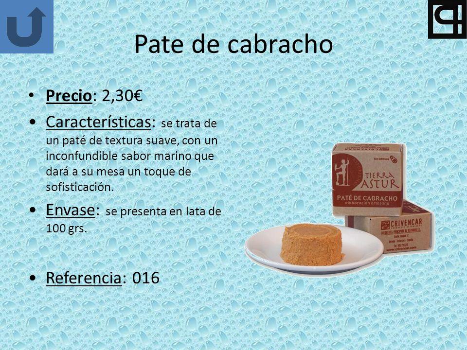 Pate de cabracho Precio: 2,30€