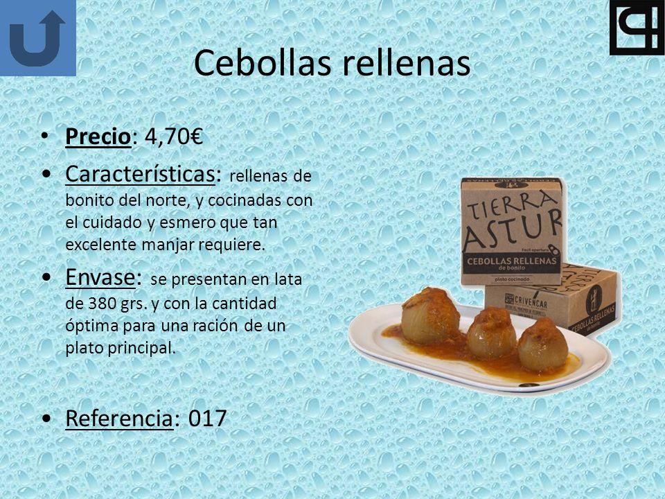 Cebollas rellenas Precio: 4,70€