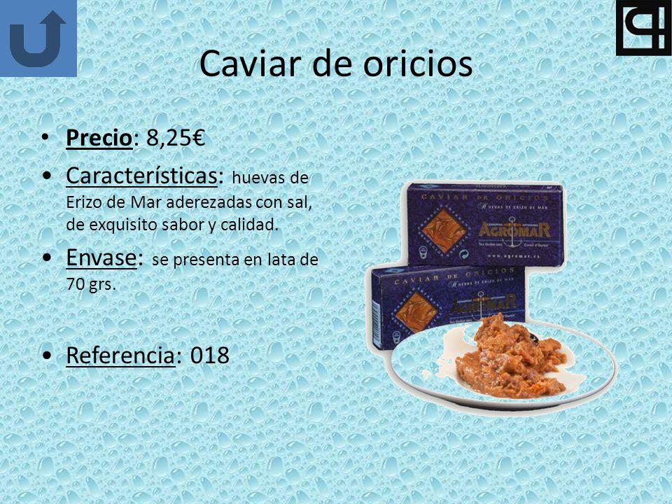 Caviar de oricios Precio: 8,25€