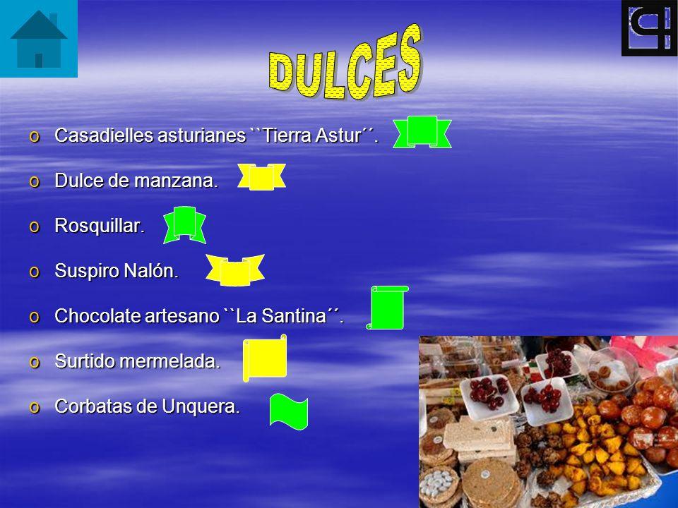 DULCES Casadielles asturianes ``Tierra Astur´´. Dulce de manzana.