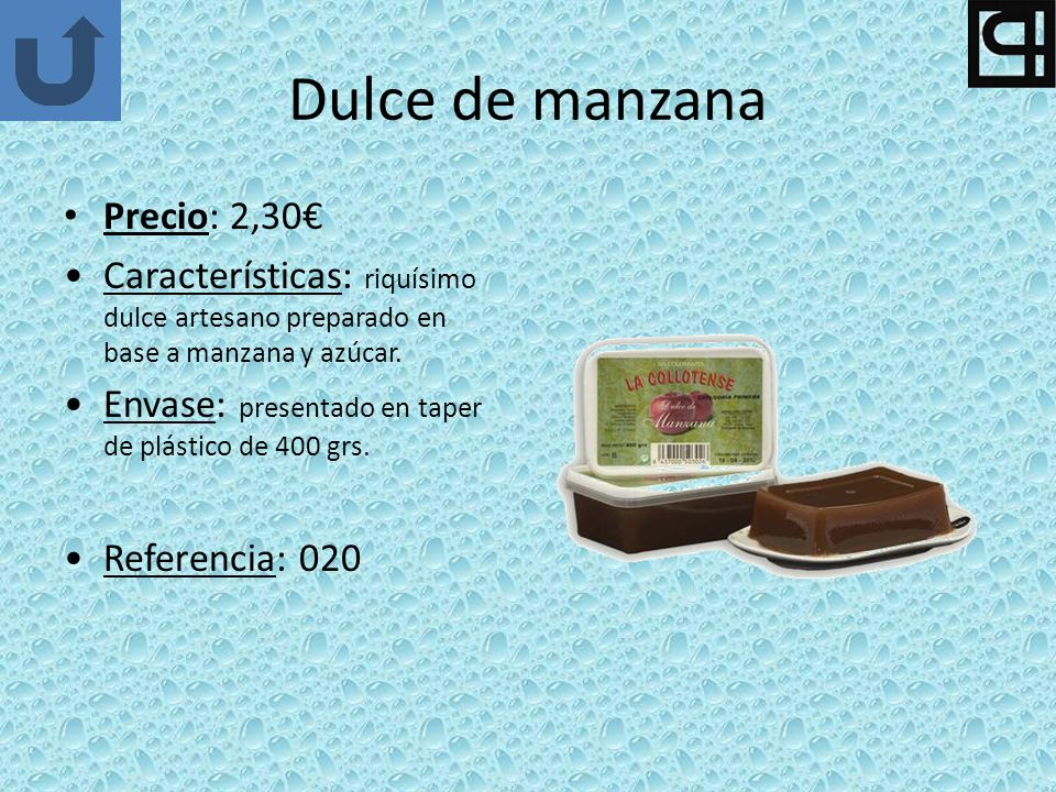 Dulce de manzana Precio: 2,30€
